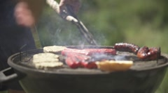 Barbecue in Slow motion Stock Footage