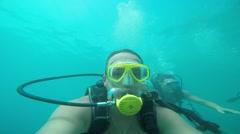 Novice divers under water, Antalya, Turkey 6 Stock Footage