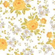 Luxurious color peony pattern. - stock illustration