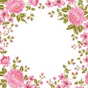Luxurious color peony background. Stock Illustration