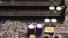 Circuit Board focus n unfocus Stock Footage