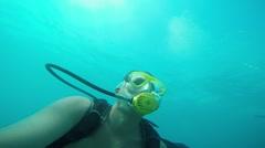 Novice divers under water, Antalya, Turkey 1 Stock Footage