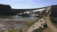 Montana Great Falls Ryan Dam on the Missouri River s Stock Footage