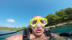 Xpects diver dive, Alanya, Turkey 2 Stock Footage