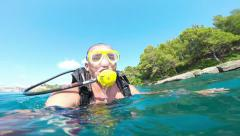 Xpects diver dive, Alanya, Turkey 3 Stock Footage