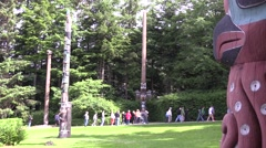 Totem Poles, quick tours Stock Footage