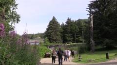 Totem Poles, time lapse tourist Stock Footage