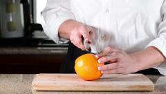 Single Orange Slice 1080 Stock Footage