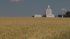 Montana wheat and grain elevator s Stock Footage