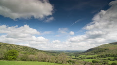 4k brecon beacons wales timelapse field countryside Stock Footage