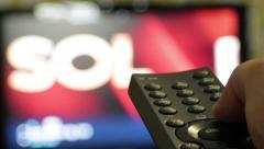 TV Remote channel Switch Stock Footage