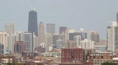Chicago Skyline John Hancock Buliding Stock Footage
