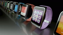 Smart watch concept Stock Footage