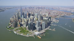 Aerial view of New York City - stock footage