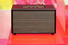 Retro guitar amplifier Stock Photos