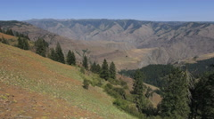 Oregon Hells Canyon view s Stock Footage
