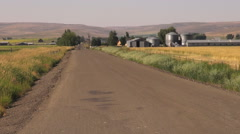 Oregon northeast road past ranch house s Stock Footage