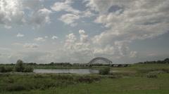 Bridge over Ijssel timelapse Stock Footage