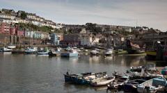 4k brixham devon england coast boats timelapse Stock Footage
