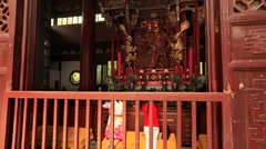 Lingyin Temple time lapse 3 30 fps static Stock Footage