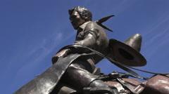Oregon Pendleton cowboy statue s Stock Footage