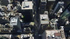 Aerial view of New York City from helicopter Stock Footage