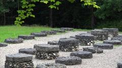 Ancient stone tables at Sarmizegetusa Regia 4K Stock Footage