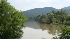 Big river flow Stock Footage