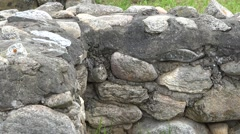 Stone walls of Sarmizegetusa ancient fortress ruins Stock Footage