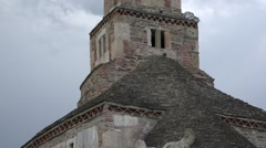 Romanian ancient church Stock Footage