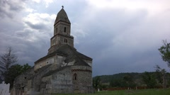 Timelapse of Densus church Stock Footage