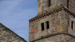 Densus church tower Stock Footage