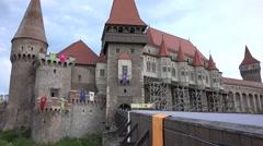 Corvins castle Stock Footage