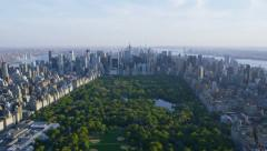 Stock Video Footage of Aerial view of Central Park in New York City