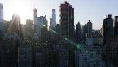 Aerial view of city blocks New York Stock Footage