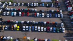 Aerial view of truck depot Stock Footage