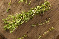 Raw organic green thyme Stock Photos
