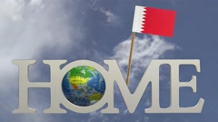 Home in the land of Bahrein - stock footage