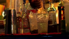 Bartender Preparing Cocktail Mojito. - stock footage