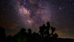 Milky Way Galaxy 97 R Timelapse Joshua Trees  - stock footage