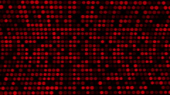 Red Dots Grow and Shrink in Size, Abstract Animation, Loop,  HD, 1080 Stock Footage