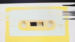 Cassette static music audio 4k Stock Footage