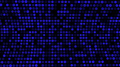 Blue Dots Grow and Shrink in Size, Abstract Animation, Loop,  HD, 1080 Stock Footage