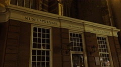 Museum at the New Church Amsterdam Stock Footage