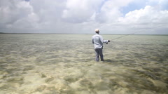 Walking the flats of the Bahamas Stock Footage