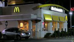 McDonalds drive thru Stock Footage
