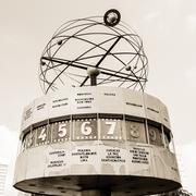 World clock at alexanderplatz, berlin, germany Stock Photos