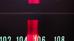 4k stereo radio hifi broadcast frequency distortion Stock Footage