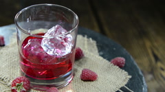 raspberry liqueur (not loopable) - stock footage