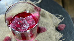 Raspberry liqueur (not loopable) Stock Footage